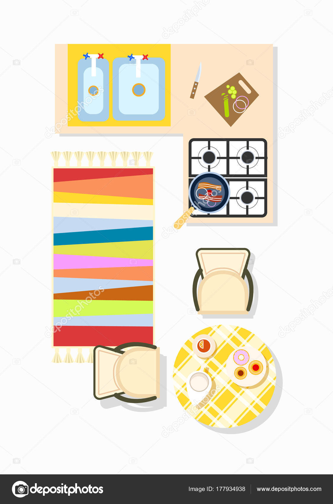 Interieur Icon Keuken Interieur Icon Vectorillustratie Stockvector Robuart