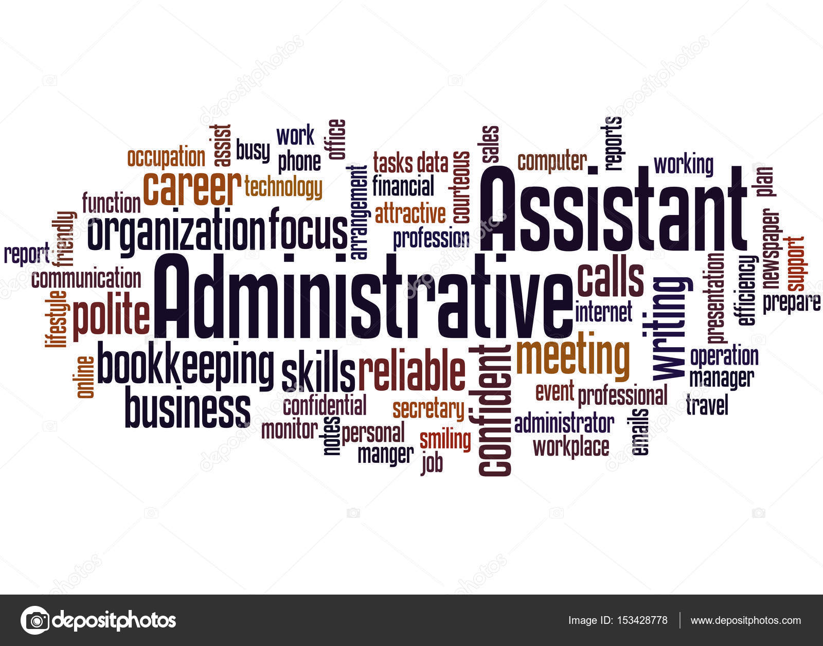Administrative Assistant Administrative Assistant Word Cloud Concept 2 Stock Photo