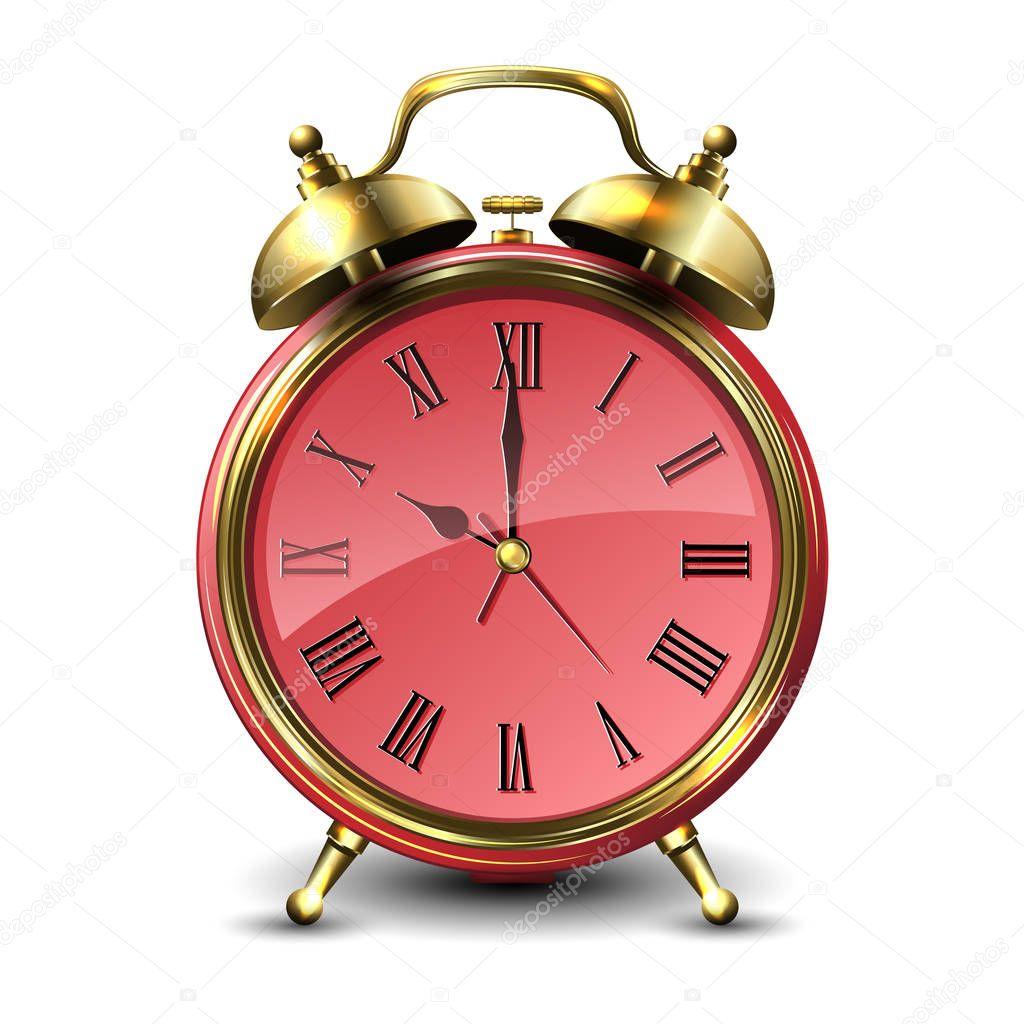 Vintage Style Alarm Clock Retro Inspired Round Table Clock