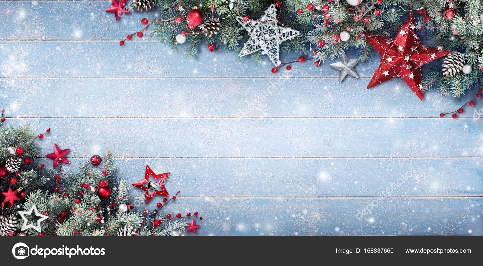 3d Xmas Wallpaper Free Christmas Background Fir Branches And Baubles On Snowy