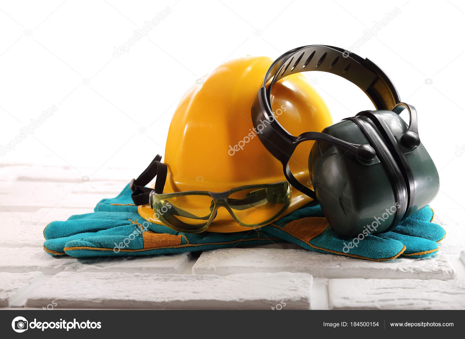 Labor Safety Subjects Of Labor Safety At The Construction Site Stock Photo