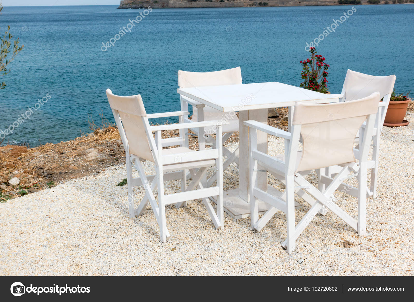 Chaise Restaurant Bois Tables Bois Vides Chaise Restaurant Plein Air Bord Mer