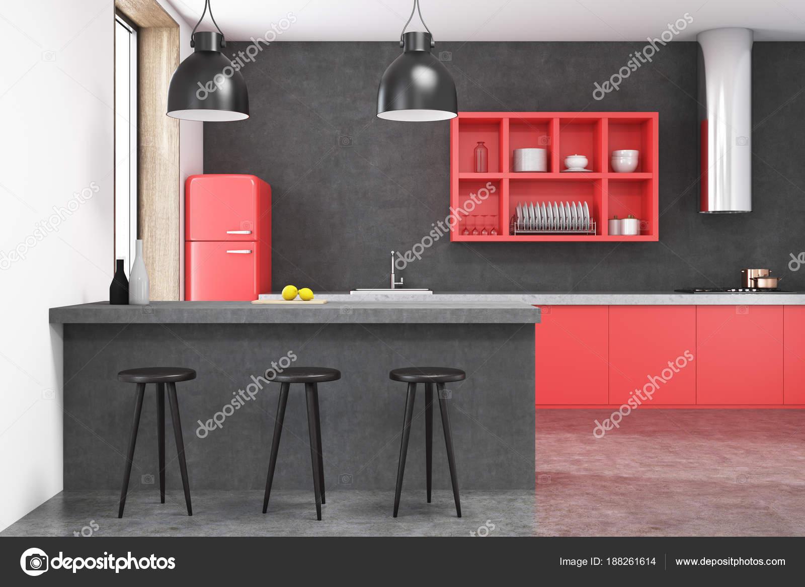 Sgabelli cucina rossi multi con braccioli