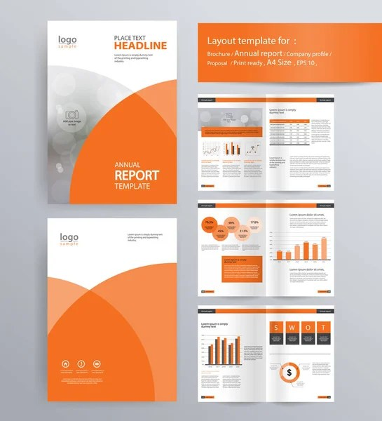 page layout for company profile, annual report, brochure, and flyer