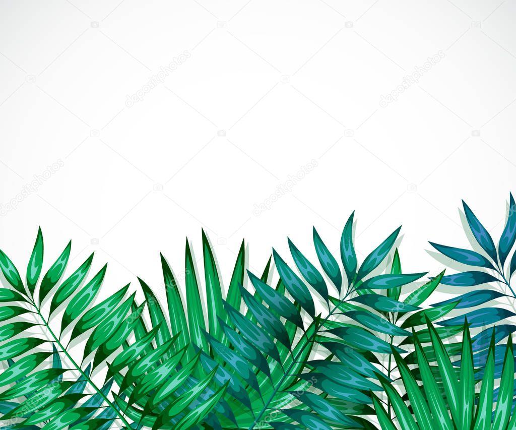 1000 Cute Wallpapers Cadre De Feuilles Tropicales Color 233 Es Concept De La