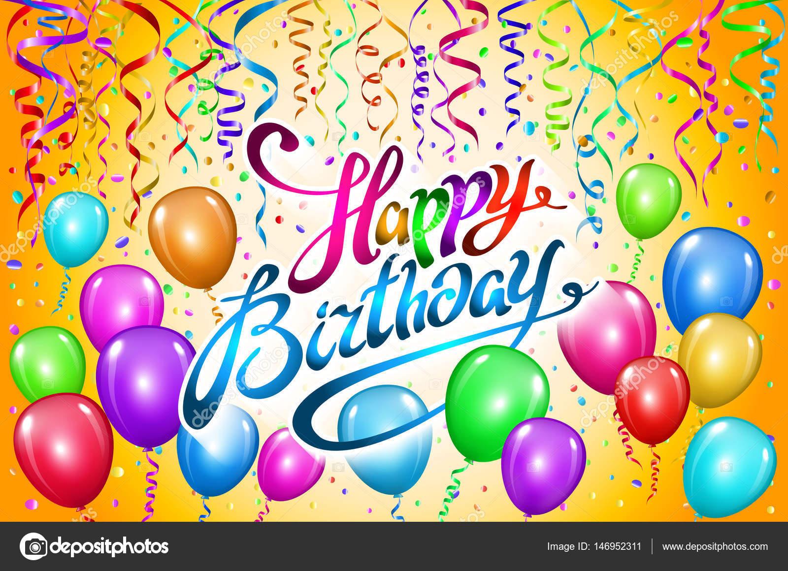 Feliz aniversário vector tipografia para cartões postais e poster