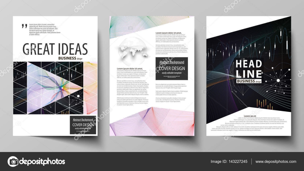 Business templates for brochure, flyer, annual report Cover design