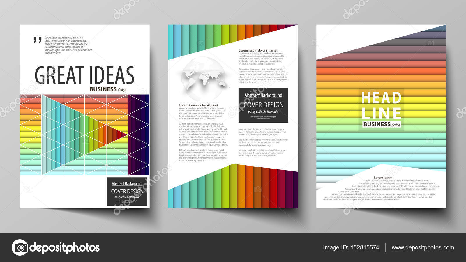 Business templates for brochure, magazine, flyer, annual report