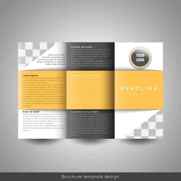Corporate tri-fold business brochure template With company logo and - tri fold business brochure