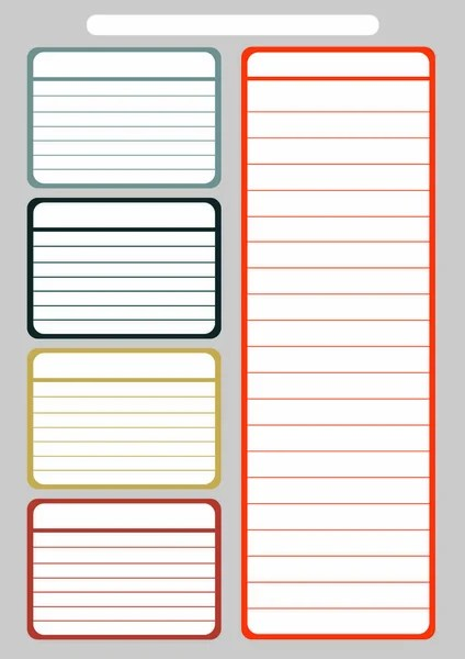 School timetable template for kids Vector printable schedual with