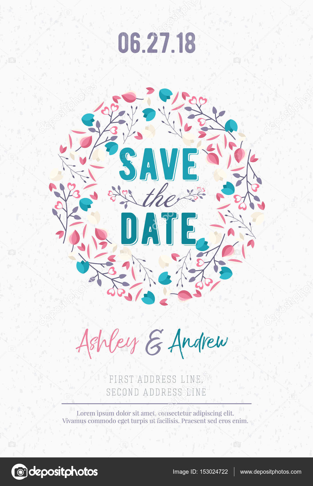 Save the date Wedding invitation card design template Stationery - Save The Date Wedding Templates