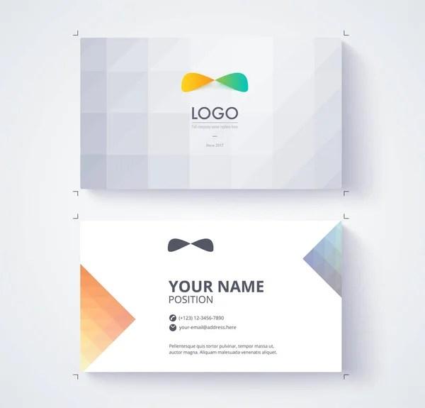 Business Card Template Example Logo Text Position Vector Card - name card example