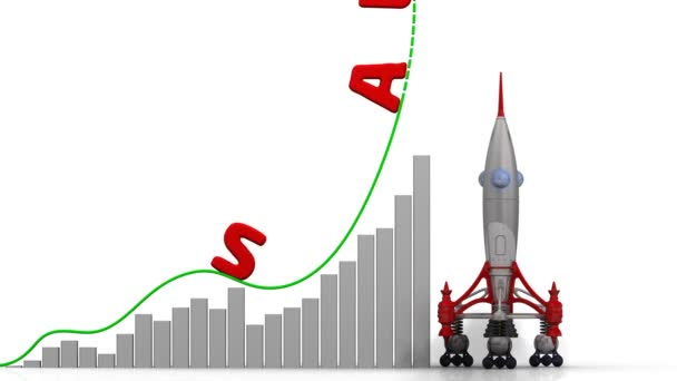 Graph Sales Growth Graph Rapid Growth Word Sales Rocket Launch - sales word