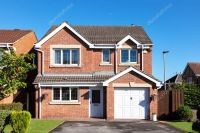 English detached house with garage  Stock Editorial Photo ...