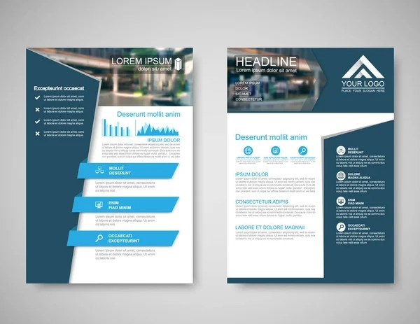 Vector Brochure Flyer design Layout template, size A4, Front page