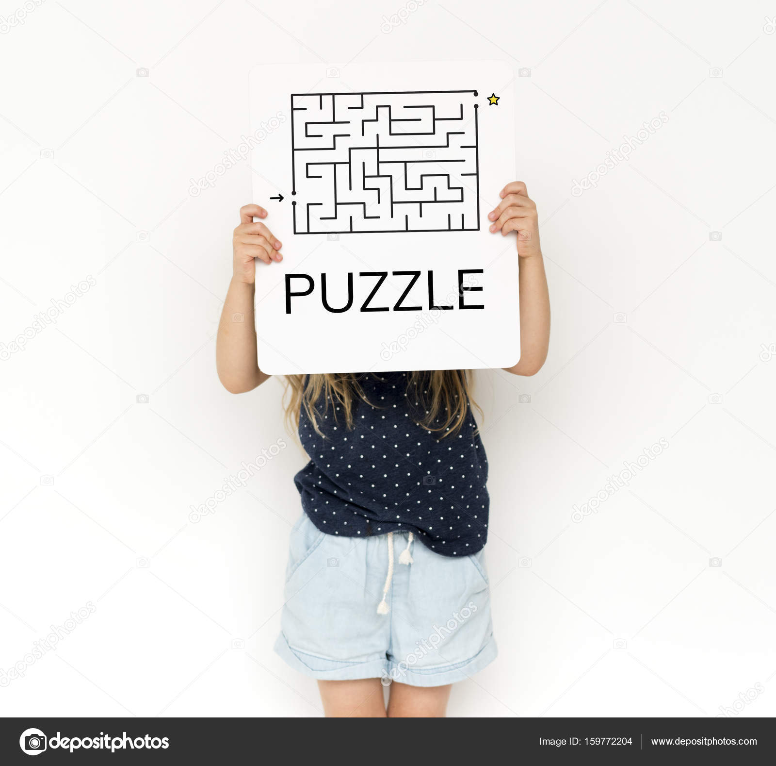 Placard Crossword Little Kid Covering Face Stock Photo Rawpixel 159772204