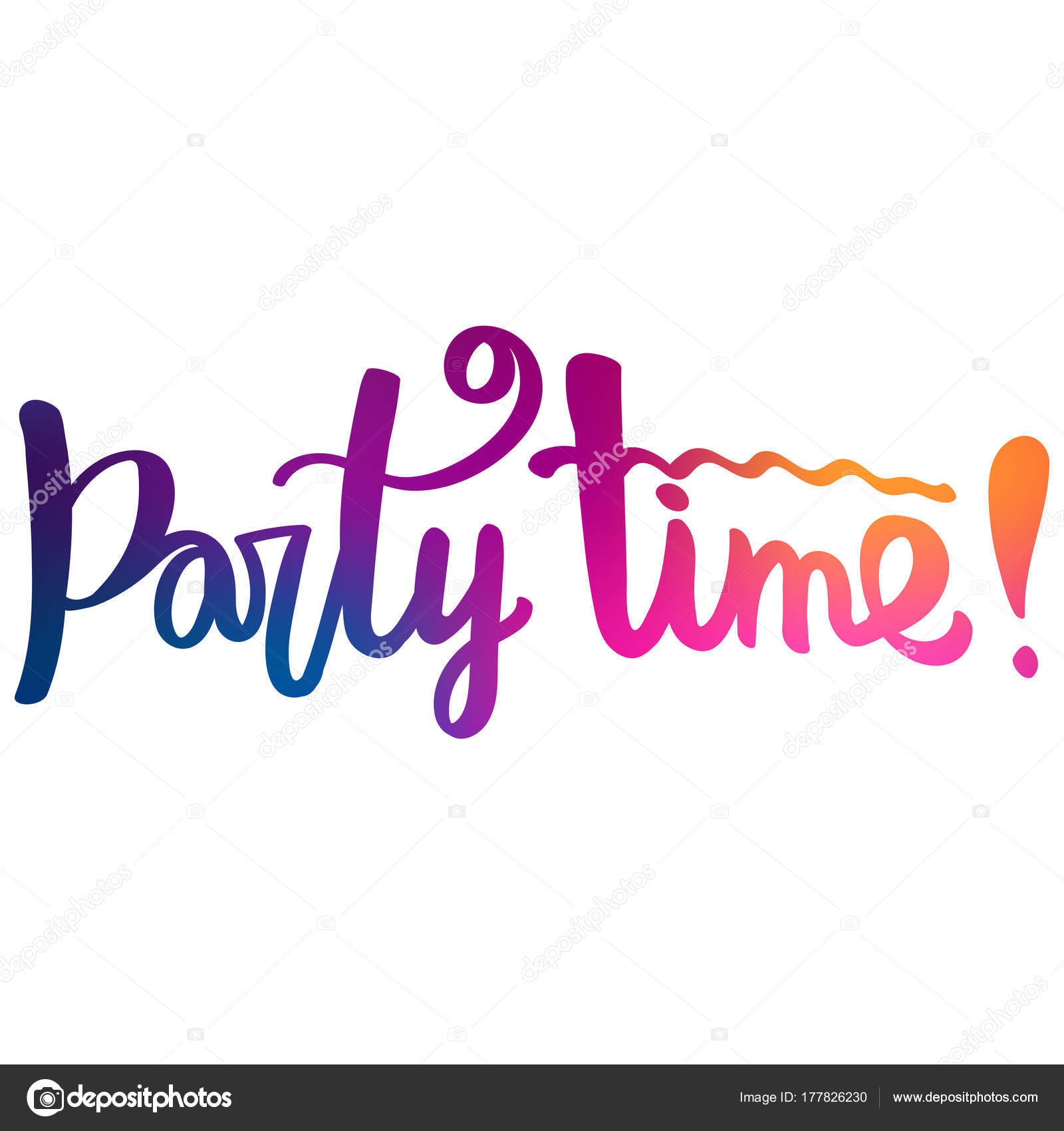 Party Time Hand Lettering Text Party Time Stock Vector Likorbut 177826230
