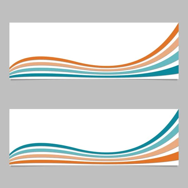Banner background from curved layers - vector graphic design with 3d