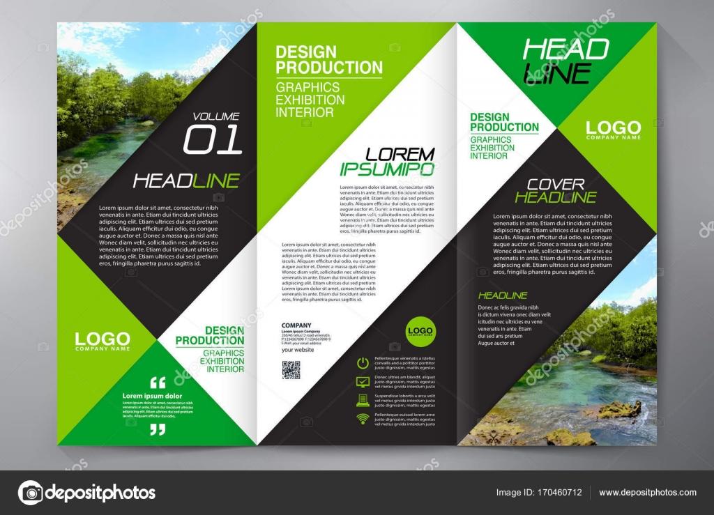 Brochure 3 fold flyer design a4 template \u2014 Stock Vector