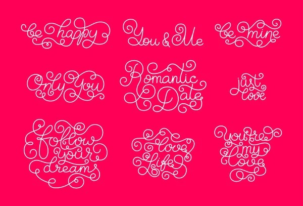 Valentines day Romantic phrases Template for a business card