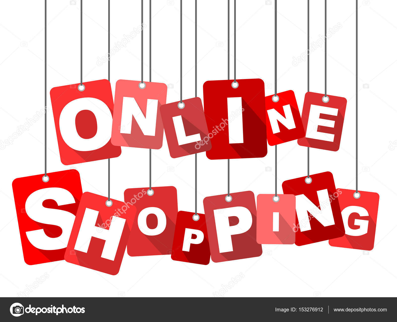 Design Shop Online Red Vector Flat Design Background Online Shopping It Is Well