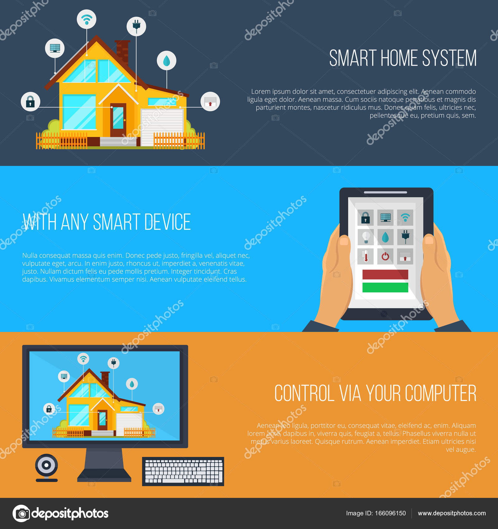 Smart Home Steuerung Smart Home Automation System Banner Smart Haus Technologiesystem