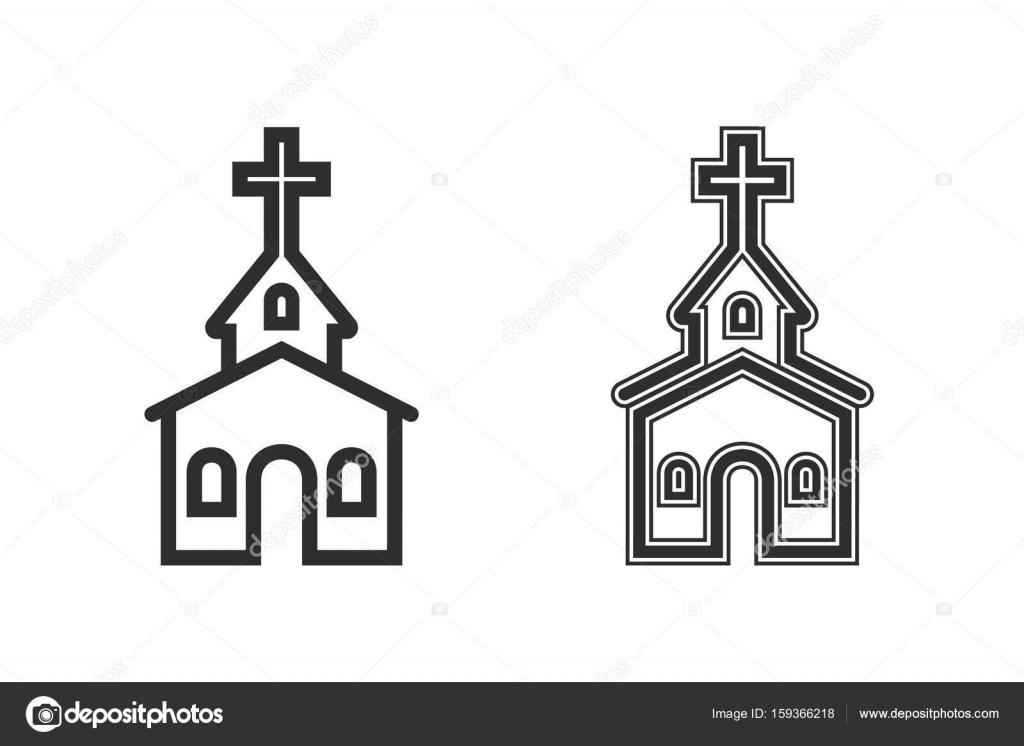Church vector icon \u2014 Stock Vector © lovemask #159366218