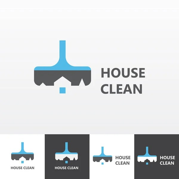 Natural House cleaning image logo \u2014 Stock Vector © deskcube #51380645