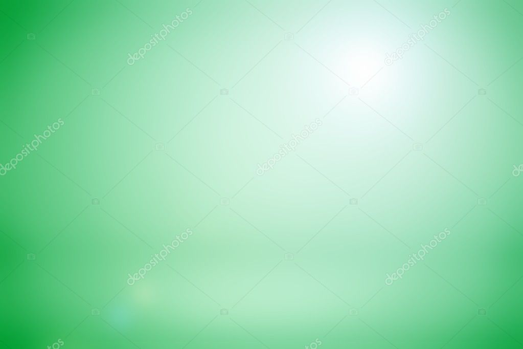 Light green gradient room studio background / Abstract green
