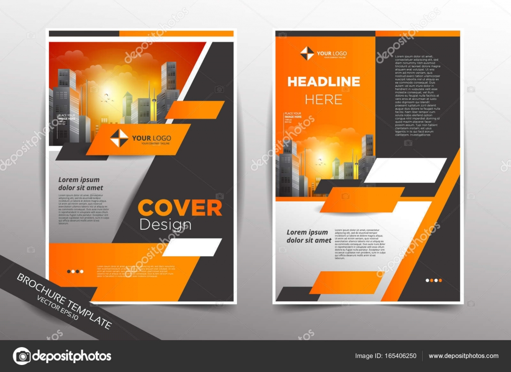 Pamphlet design template with city background \u2014 Stock Vector © yugra