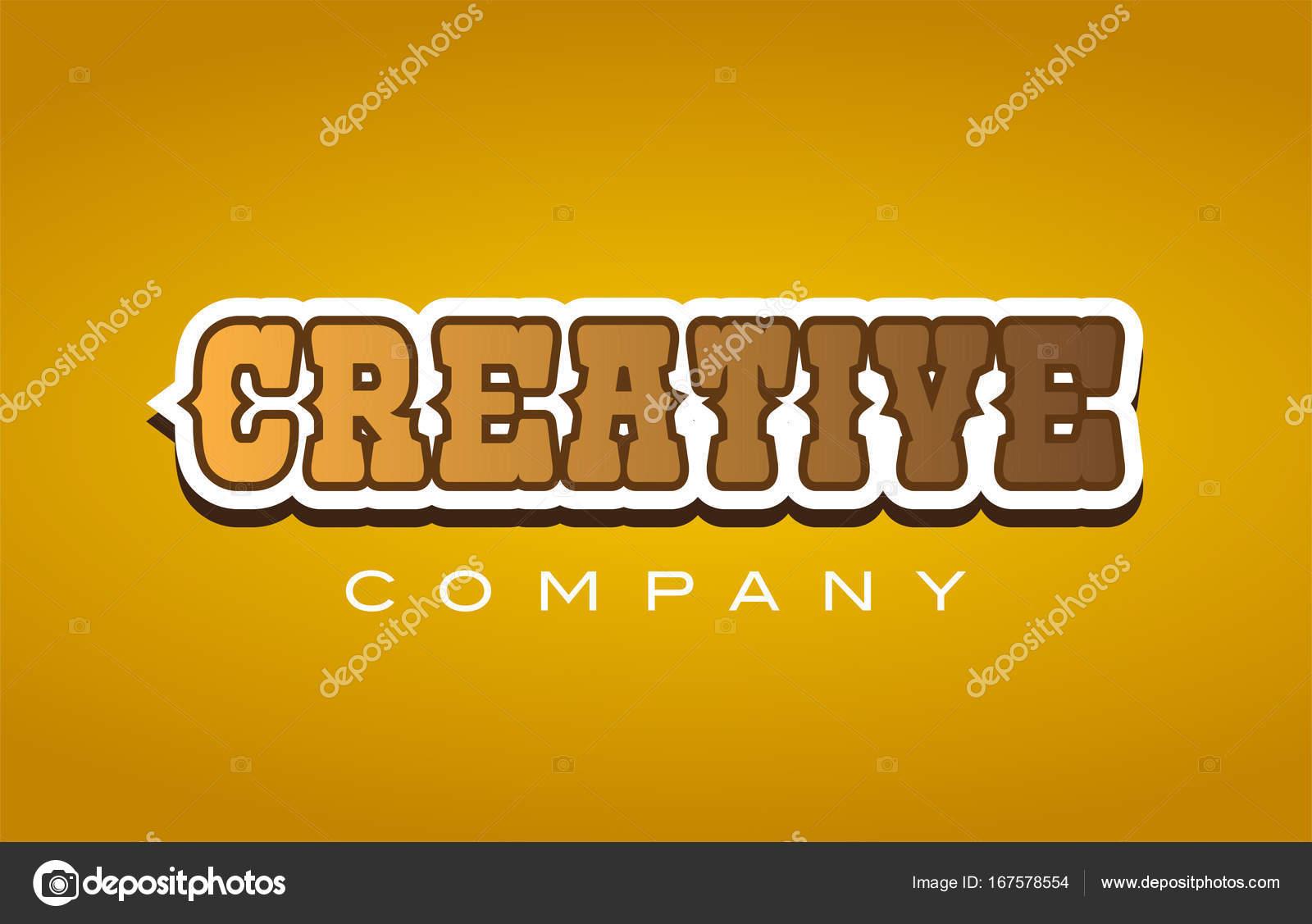 creative western style word text logo design icon company \u2014 Stock