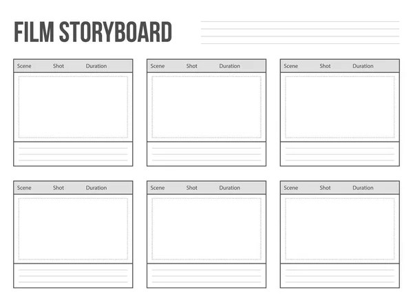 Professional of film storyboard template vertical \u2014 Stock Vector