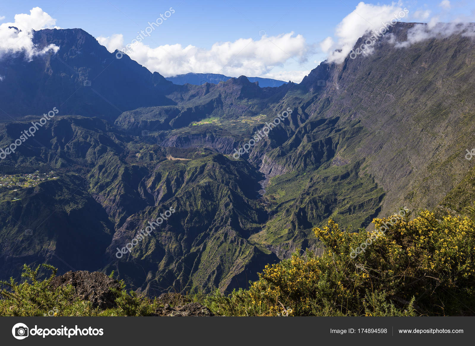 Reunion Island Mafate Circus From Piton Maido La Reunion Island Stock Photo