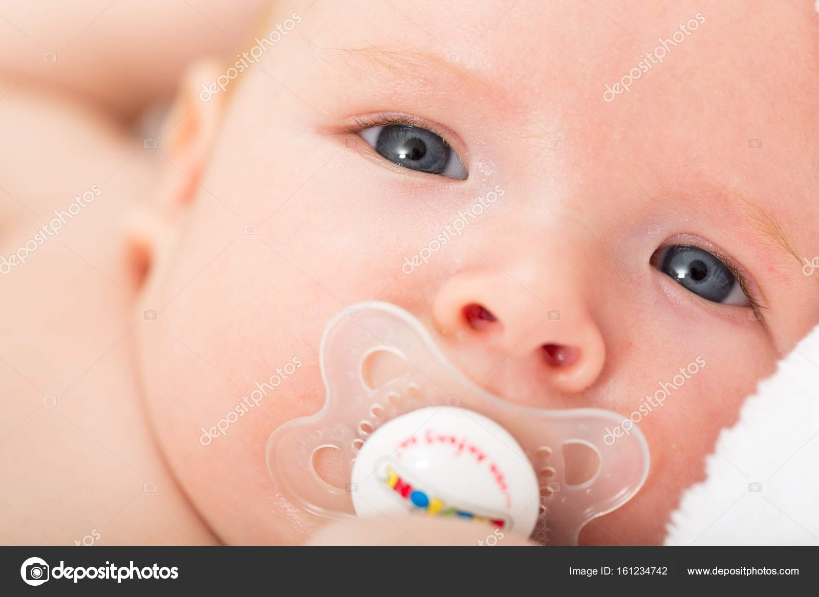 Newborn Babies For Dummies Adorable Little Newborn Baby Dummy Mouth Stock Photo