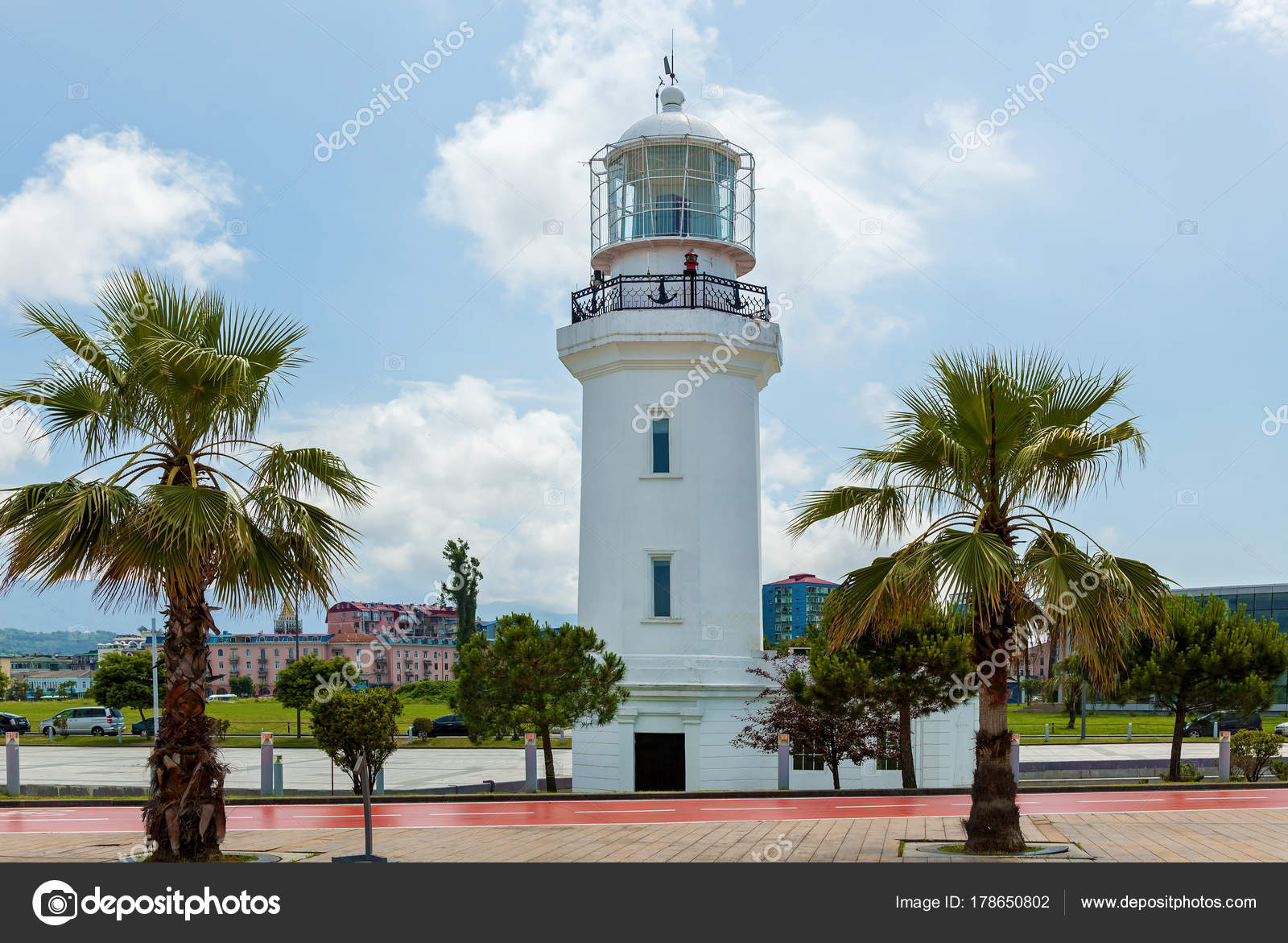 Lighthouse Background Lighthouse Background City White Lighthouse Light Blue Sky Day