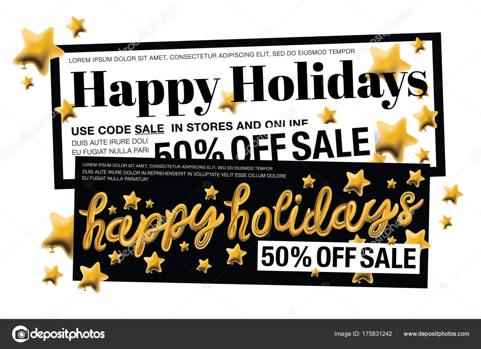 Calligraphy Templates Online Happy Holidays Beautiful Calligraphy Gold Text Gold Stars