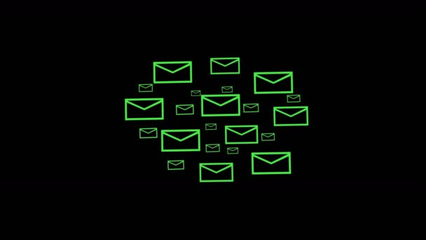 4k,background of the envelope E-Mail,flying mails,future tech screen - mail background