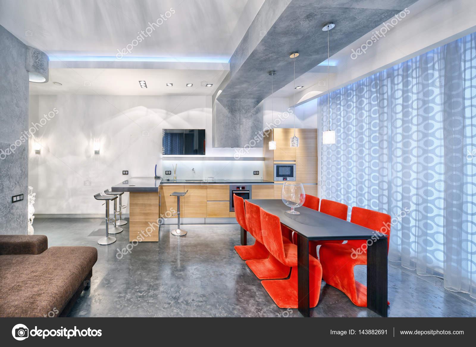 Cucina Soggiorno Di Lusso | Interni Cucine Moderne Home Interior ...