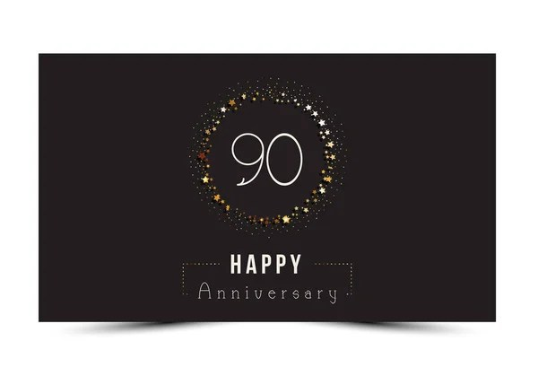 40 years Happy Anniversary card template with gold stars \u2014 Stock