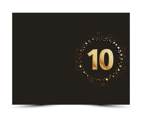 15 years Happy Anniversary card template with gold stars \u2014 Stock