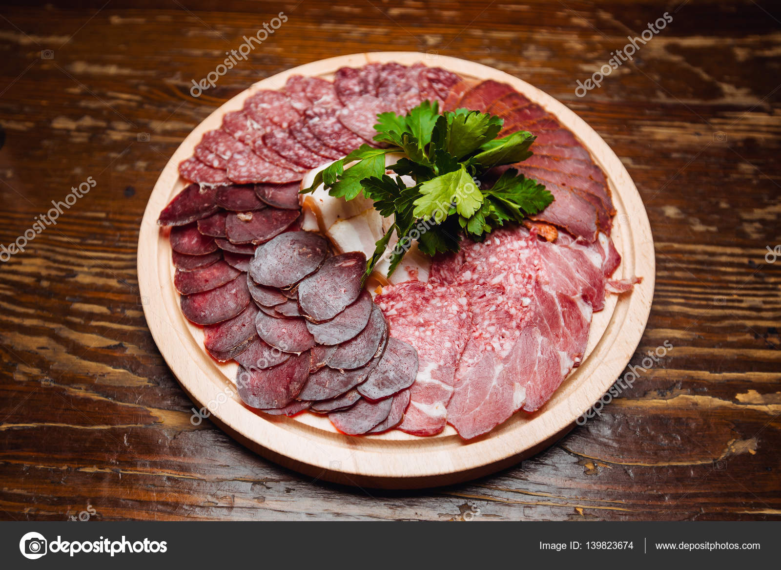 Beef Stock Kaufen A Plate Of Cold Meats Stock Photo Alexshyripa 139823674