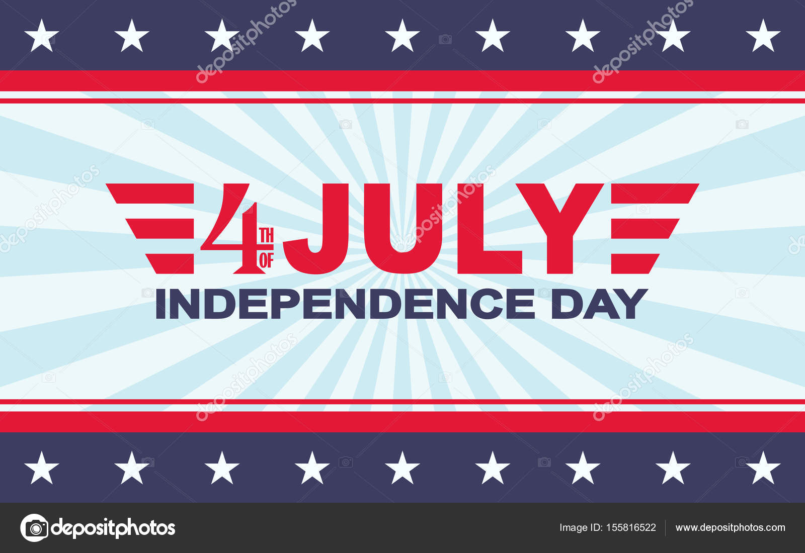 Vector 4th of July festive design Independence Day background - 4th of july template