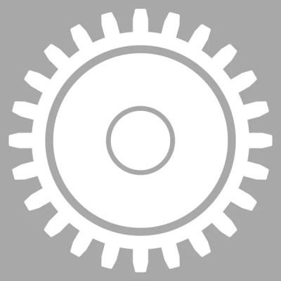 Flache Zahnrad-Symbol — Stockvektor © ahasoft #130426252