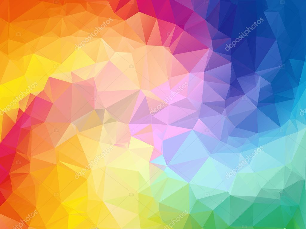 3d Wallpaper Images Free Download Colorful Swirl Rainbow Polygon Background Colorful