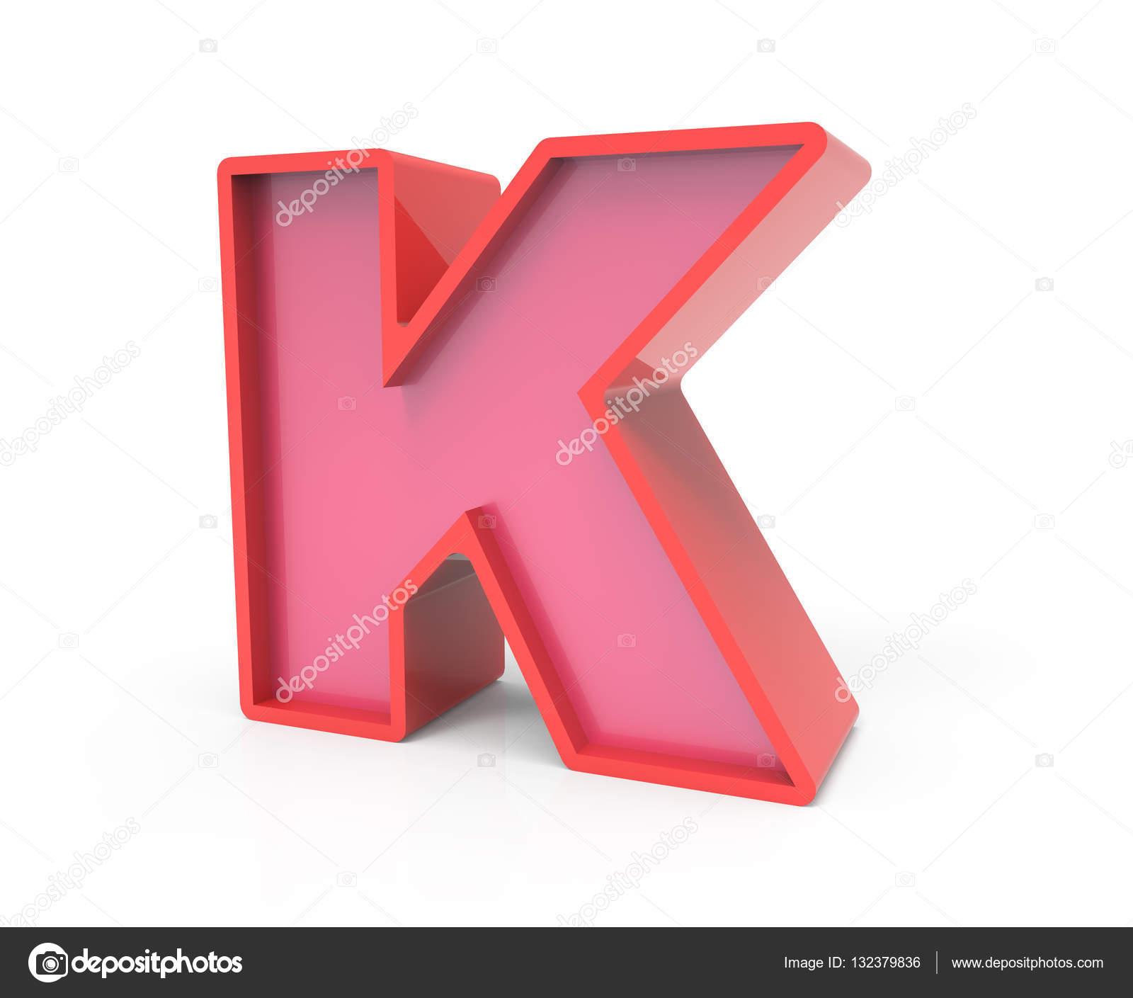 Letter K Red