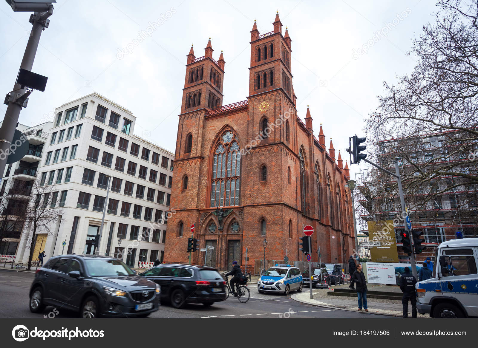Berlin Gothic 25 01 2018 Berlin Germany Neo Gothic Friedrichswerder Church