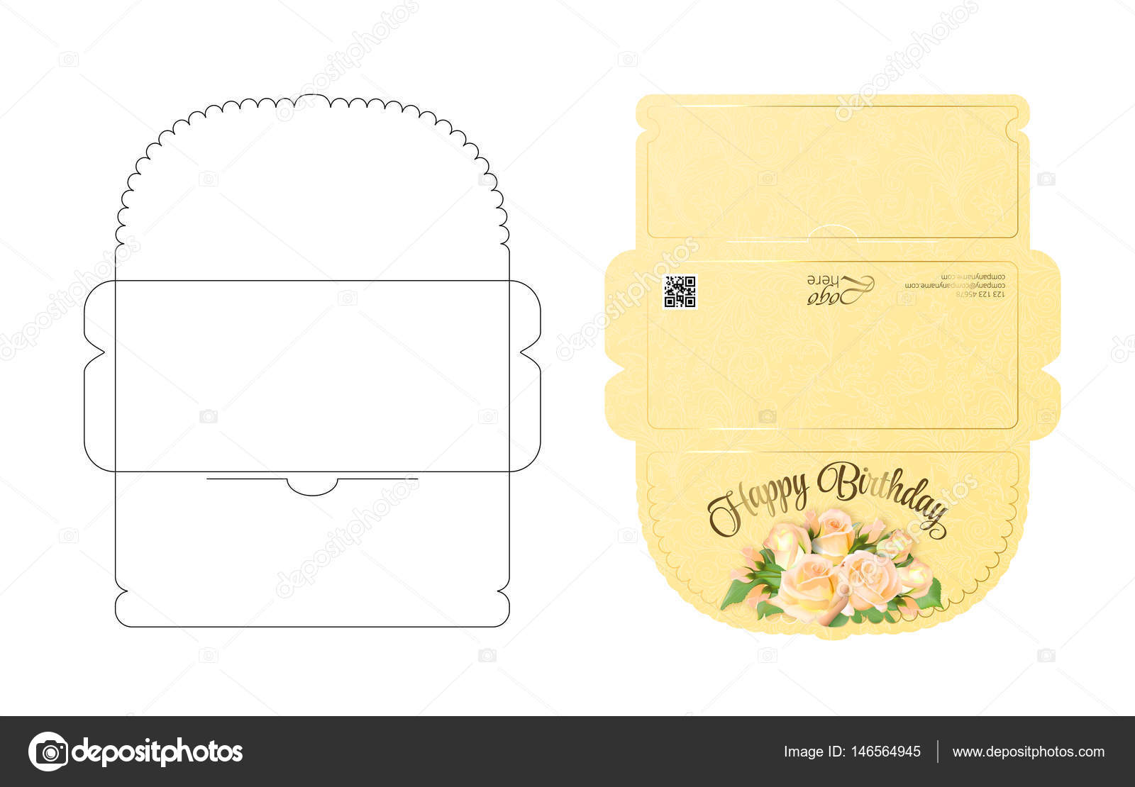 Envelope template with flap design Easy to fold Ready to print - money gift envelope template