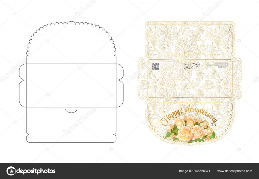 Envelope template with flap design Easy to fold Ready to print
