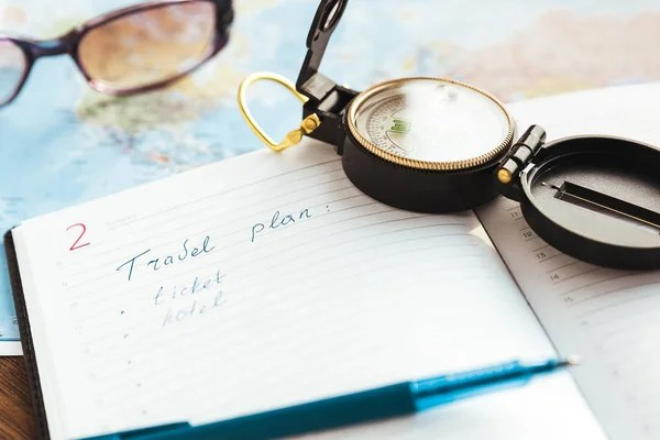 Planner To Do List voor reis \u2014 Stockfoto © dasha_romanova #146650567