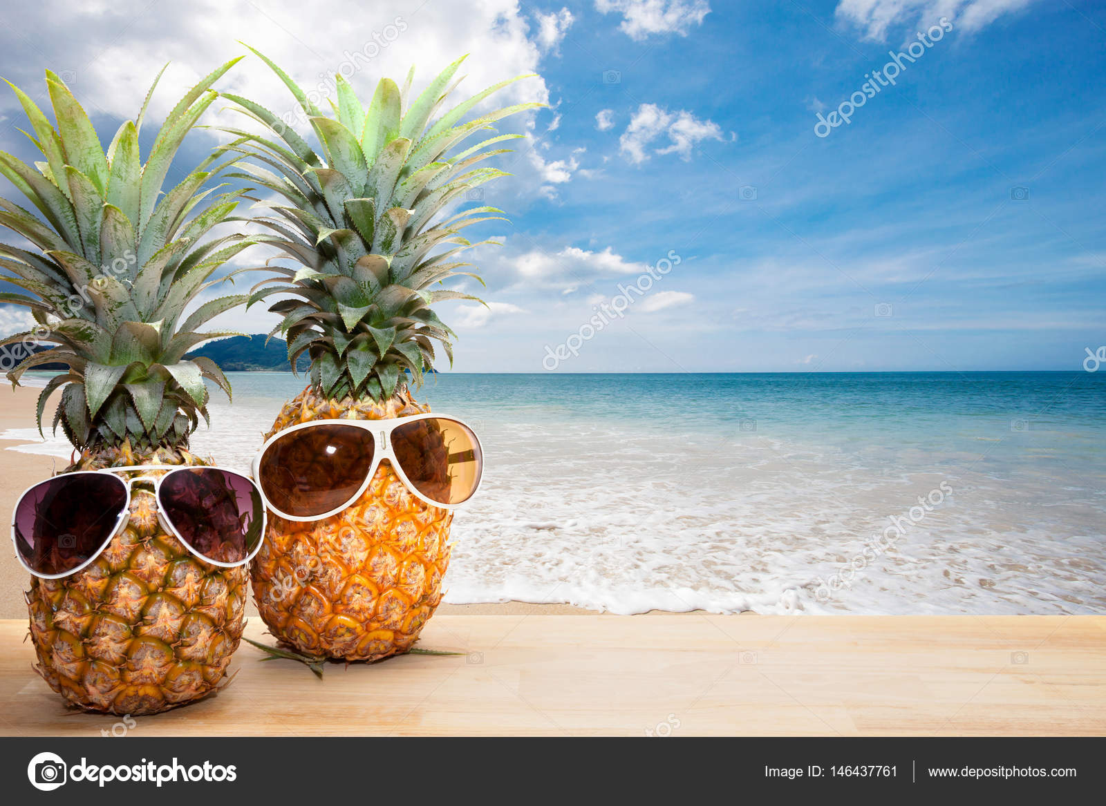 Pineapple With Sunglasses Tumblr Pineapple With Sunglasses On Wood Concept Summer